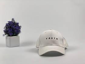Кепка бейсболка Youth (белая) застежка пластик