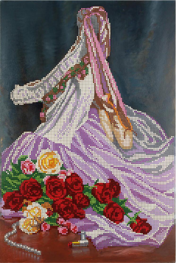 """Схема для частичной вышивки бисером - """"Розы балерины"""""""