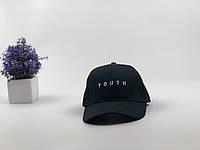 Кепка бейсболка Youth (черная) застежка пластик, фото 1