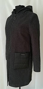Женское пальто весна стильное   42-50 черный
