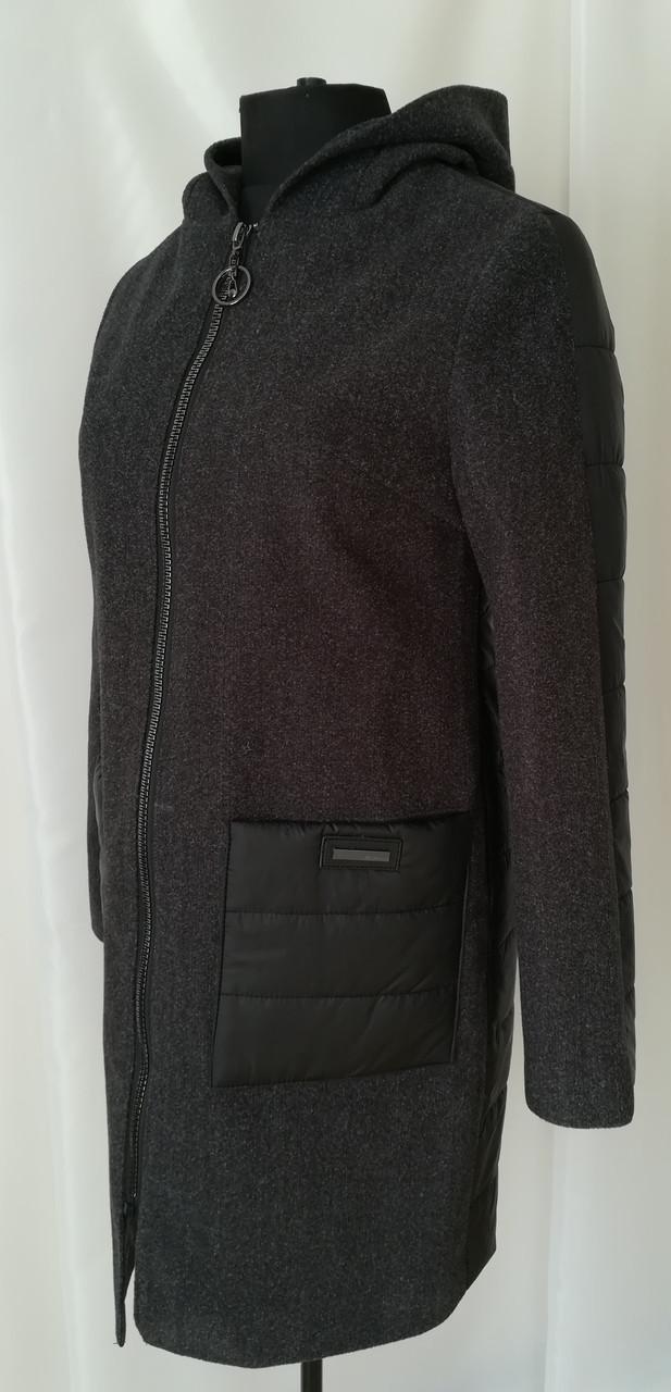 Жіноче пальто весна стильне 42-50 чорний