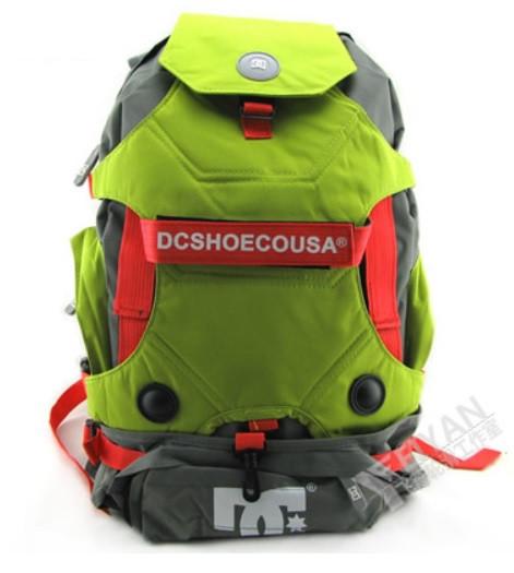 Рюкзак DC под ролики, цвет серый с зеленым