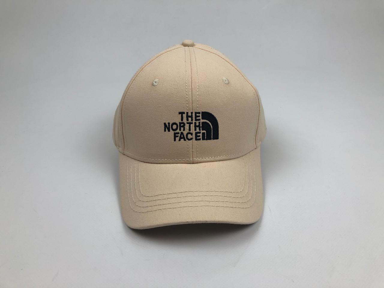 Кепка бейсболка The North Face - молочная