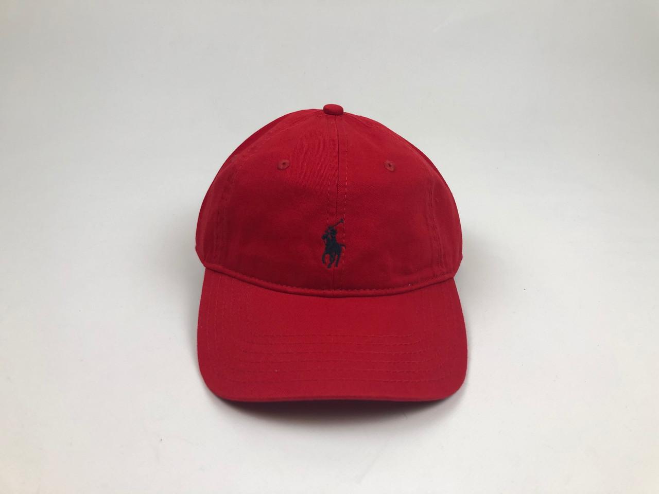 Кепка бейсболка Polo Ralph Lauren (красная с черным лого)