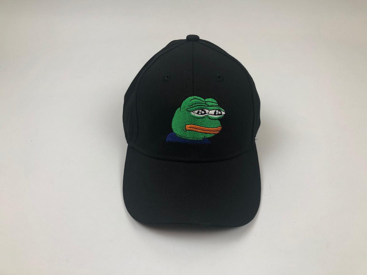 Кепка бейсболка Жаба Пепе (черная)