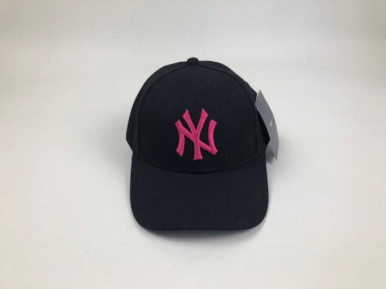 Кепка New York Yankees MLB - Черная с розовым лого