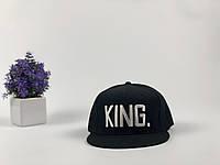 Снэпбек King черный, белое лого, фото 1