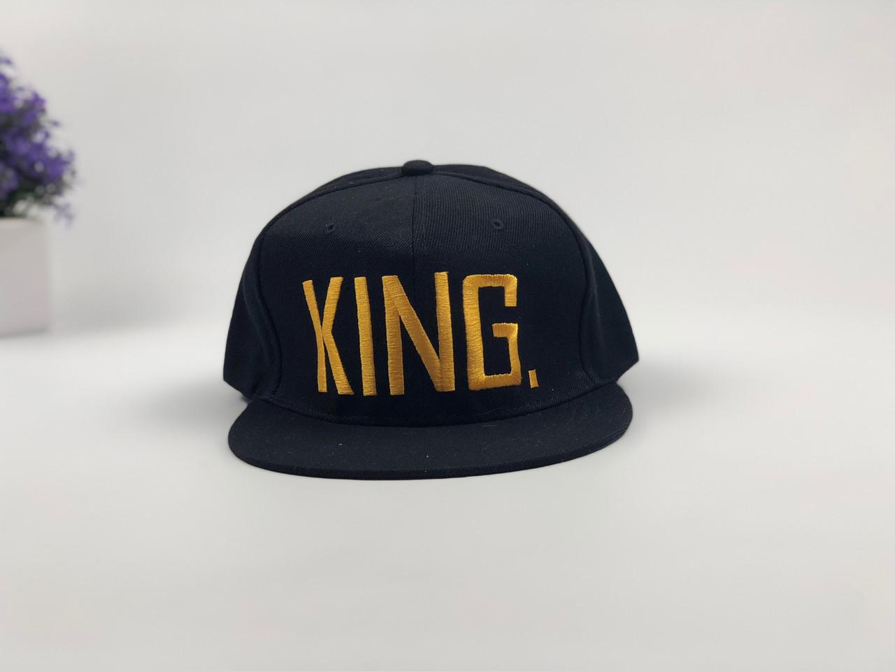Снэпбек King  - черный, золотое лого