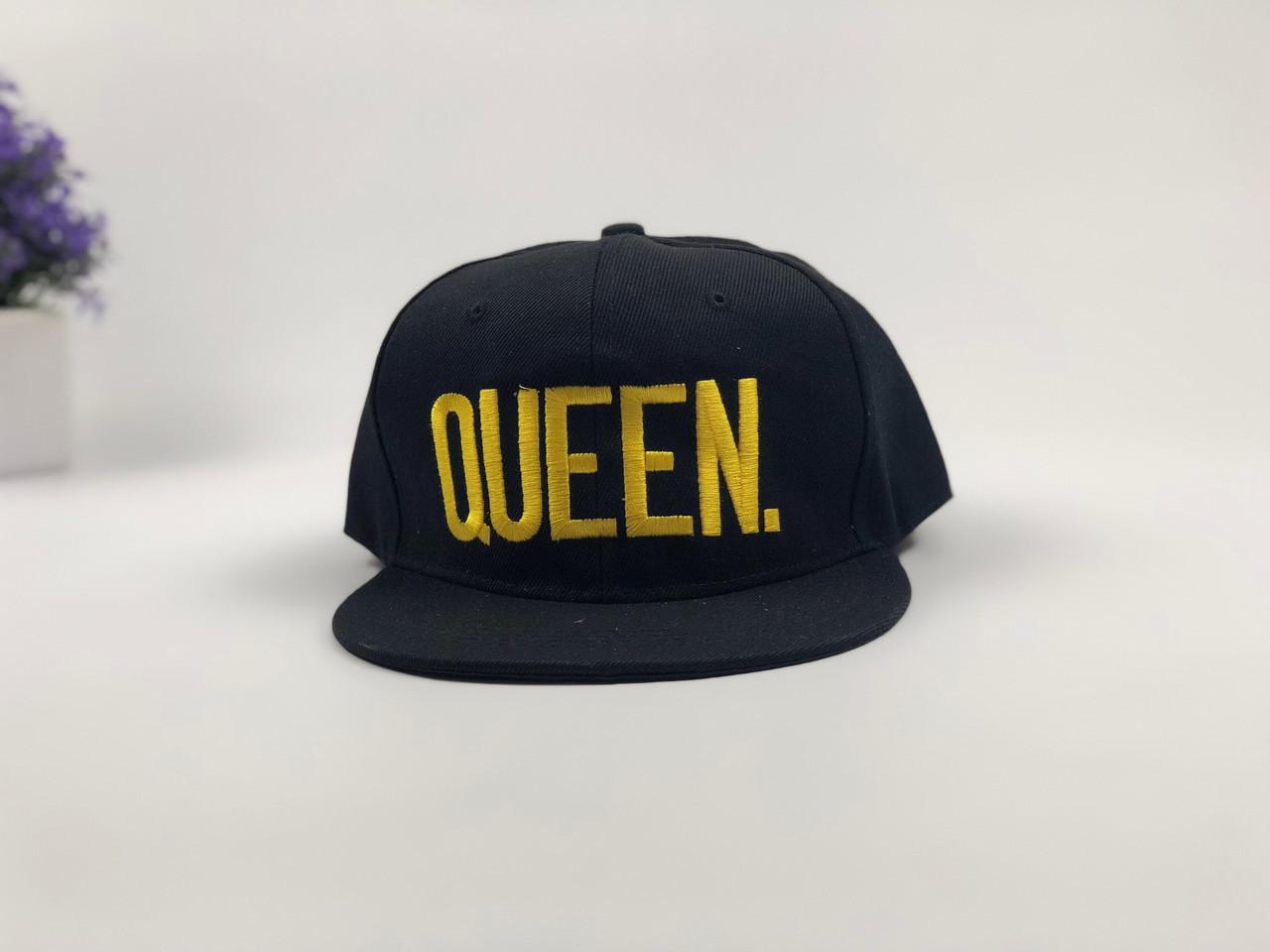 Снэпбек Queen - чорний, золоте лого