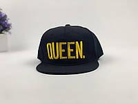 Снэпбек Queen - чорний, золоте лого, фото 1