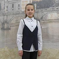 Рубашка +жилет синяя 19, фото 1