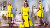 Гламурное стильное платье с декором от «Giamba» «Лолитта» желтый