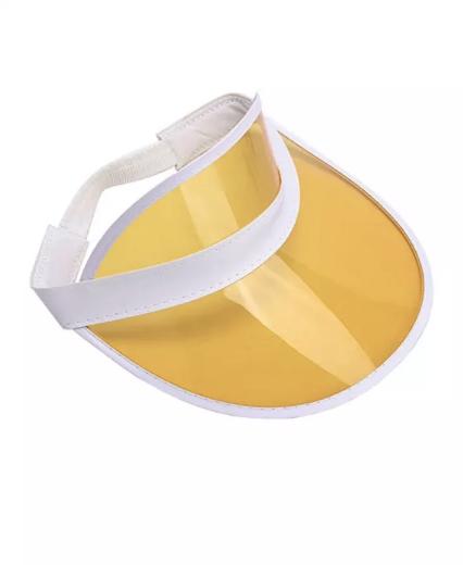 Солнцезащитный прозрачный Козырёк кепка - Желтый