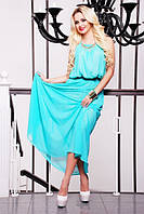 Летний сарафан в пол Мелинда голубой 42-50 размеры