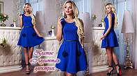 Гламурное стильное платье с декором от «Giamba» «Лолитта» электрик