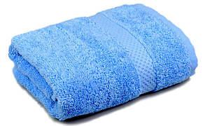 Полотенце махровое, бордюр, 40х70, цвет: голубой