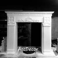 Каминный портал,  декоративный камин,  гипсовый портал,  гипсовый камин,  модель 4