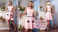 Гламурное стильное платье с декором от «Giamba» «Лолитта» персиковый