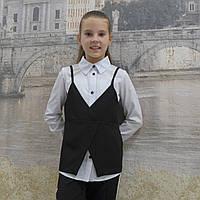 Рубашка с жилеткой (черная 19), фото 1