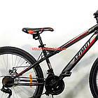 Подростковый велосипед Azimut Hiland 24 GD черно-красный, фото 5