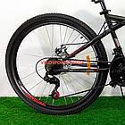 Подростковый велосипед Azimut Hiland 24 GD черно-красный, фото 6