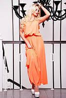 Летний сарафан в пол Мелинда персик 42-50 размеры