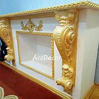 Каминный портал, декоративный камин, гипсовый портал, гипсовый портал, модель 5