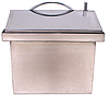 Коптильня кубик из нержавейки с гидрозатвором 290X290X280 крышка домик