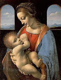 """Набор алмазной вышивки (мозаики) икона """"Богородица с младенцем"""". Художник Leonardo da Vinci"""