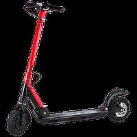 Электросамокат SNS T9, колёса 8дюймов красный, (черный). Дисплей, фара, рычаг газа. Мотор 350W, до 100кг.