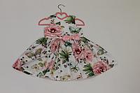 Летнее платье на девочку в розу