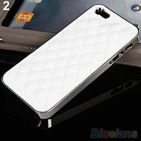 Чехол бизнес-класса  кожа+хром для Iphone 4, 4S