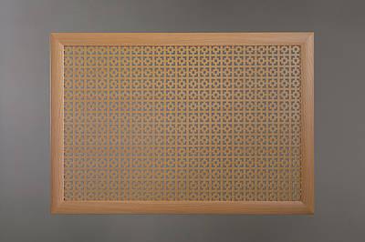 "Решетка для батареи ""Бюджет"", 60 см х 90 см, цвет бук Эфес"