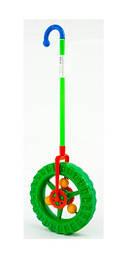 Каталка Торгпласт Чудо колесо с трещеткой, d-24см, цвет зелёный