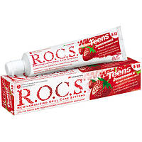 Детская зубная паста R.O.C.S. Teens Аромат жаркого лета Земляника 74 г 03-01-031