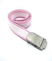 Ремень поясной  тканевый розовый (4 см)