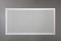 """Решетка для батареи """"Бюджет"""", 60 см х 120 см, цвет белый"""