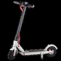Электросамокат SNS MiniRobot M365, колёса 8,5дюймов белый. Фара, рычаг газа, до 100кг.