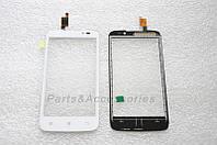 Сенсор (тачскрин) стекло для смартфона Lenovo A516 белый оригинал