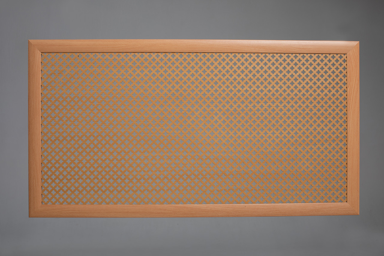 "Решетка для батареи ""Бюджет"", 60 см х 120 см, цвет бук"