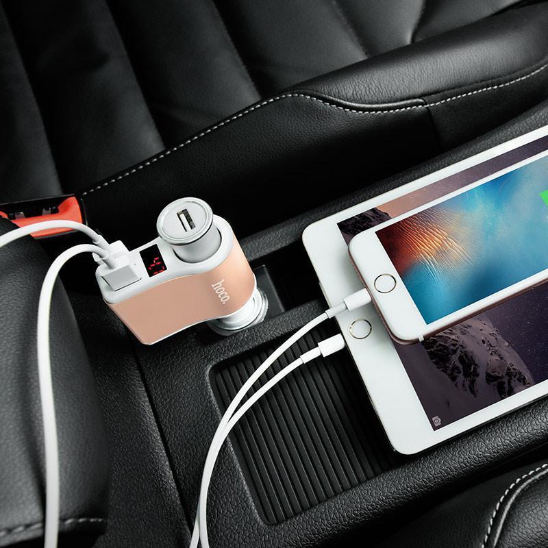 Автомобильное зарядноеустройство HOCO Z10