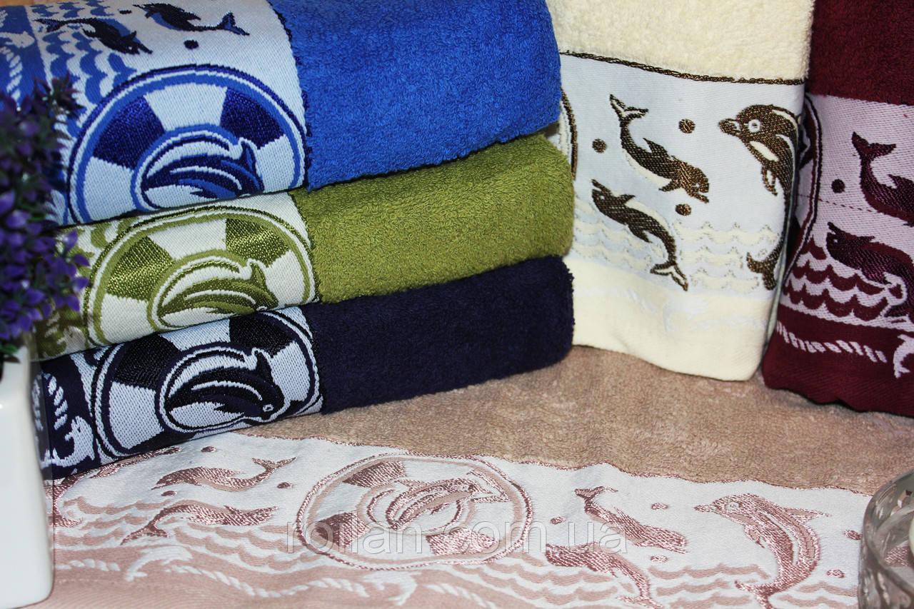 Банныетурецкие полотенца Gulcan Dolphinis