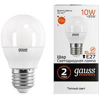 Лампа светодиодная Gauss Elementary 10 Вт G45 матовая E27 220 В 3000 К
