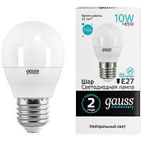 Лампа светодиодная Gauss Elementary 10 Вт G45 матовая E27 220 В 4100 К