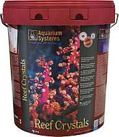 Соль для рифового аквариума Aquarium Systems Reef Crystals 20 кг для 550 л ведро