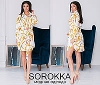 Модное молодёжное платье-рубашка S , M , L , XL