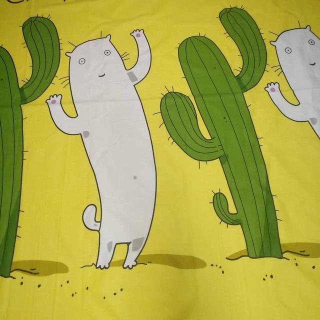 ткань бязь голд желтый кот для постельного белья и домашнего текстиля