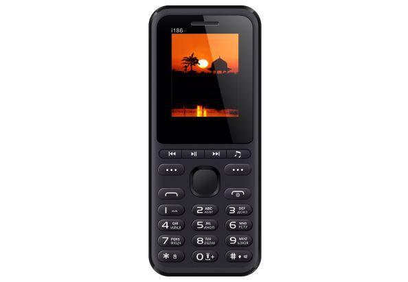 Простой кнопочный телефон звонилка на 2 сим карты Nomi i186 чёрный