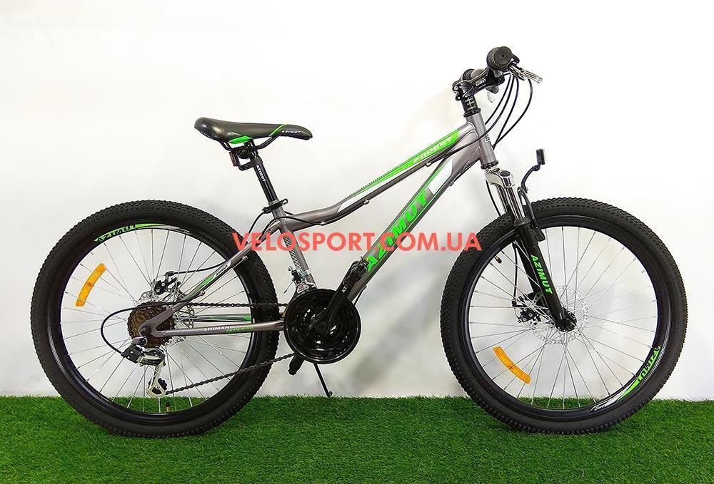 Подростковый велосипед Azimut Forest 24 GD серый