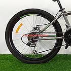 Подростковый велосипед Azimut Forest 24 GD серый, фото 5